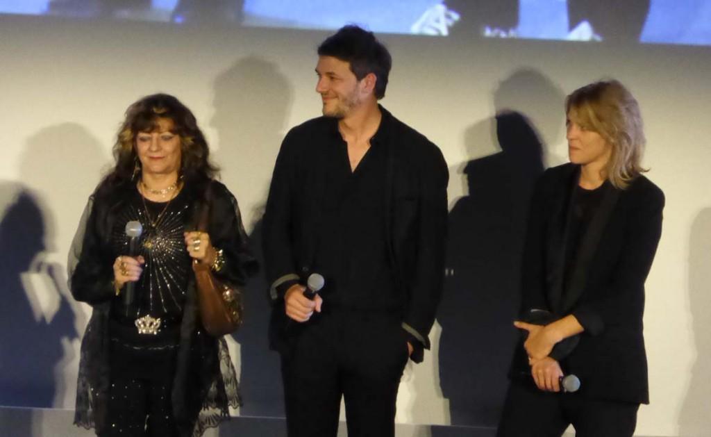 Deux des réalisateurs, Claire Burger et Samuel Theis et leur actrice principale Angélique Litzenburger