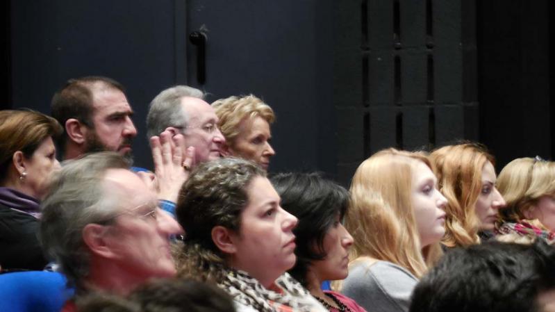 12ème FIFDH 2014 Eric Cantona (derrier le public) - FiFDH2014 (C)Kley