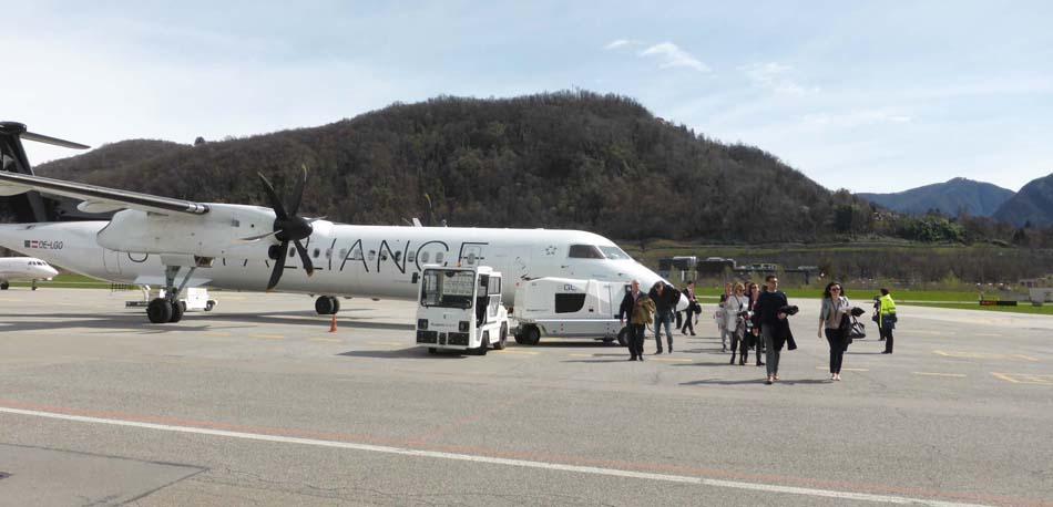 Arrivée à Lugano