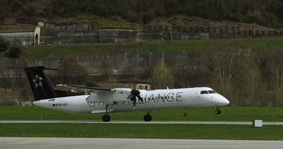 Photos Avion Dash 8-Q400 : opéré par la société sœur de SWISS, Austrian Airlines, un partenaire au sein du groupe Lufthansa