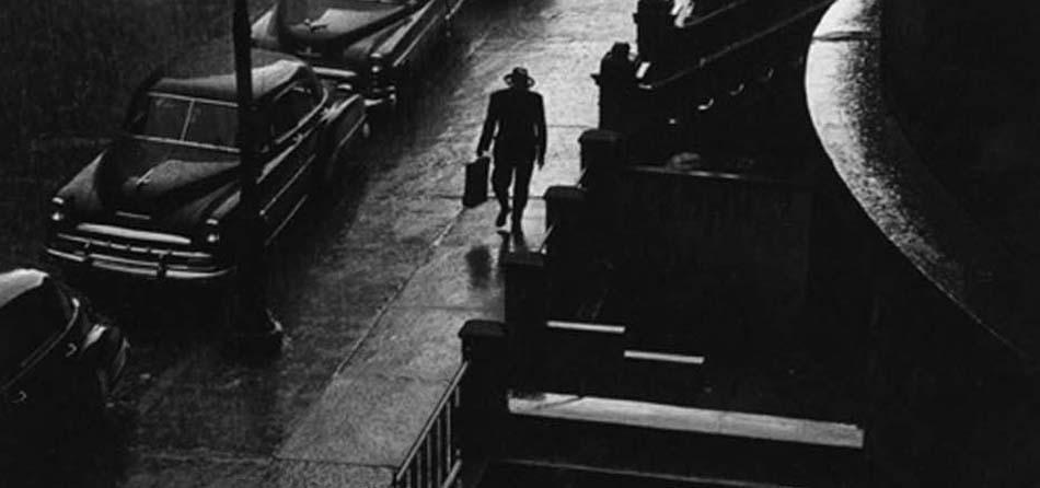 Ruth Orkin, Man in Rain, NYC 1952