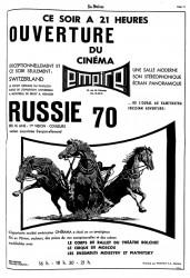 Annonce Ouverture du Cinérama EMPIRE - 16-08-1967