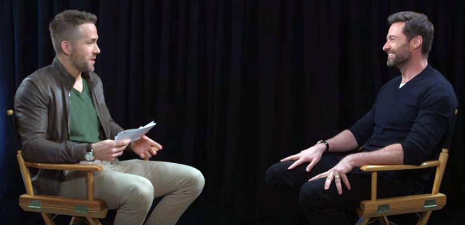 Ryan Reynolds alias DEADPOOL interviewe Hugh Jackman alias WOLVERINE !