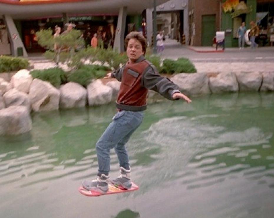 retour vers le futur skate volant